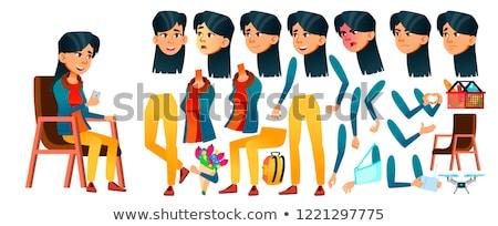 üzlet · színes · illusztráció · fiatal · vonzó · üzletemberek - stock fotó © pikepicture