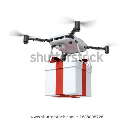 envío · Navidad · vector · Cartoon · funny · amarillo - foto stock © pcanzo