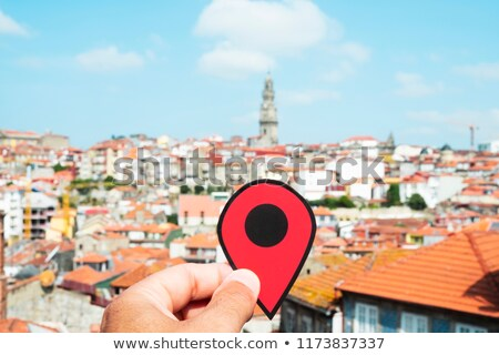 man with a red marker in Porto, Portugal Stock photo © nito