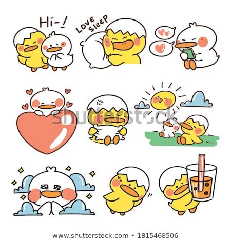 Cartoon Duckling Napping Stock photo © cthoman