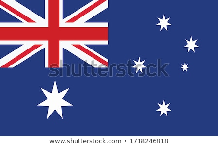 Australia flag on badge design Stock photo © colematt