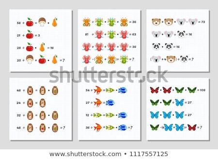 math worksheet template for dividing stock photo © colematt