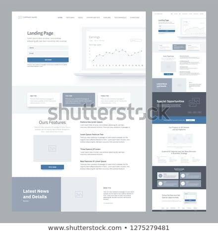 Business opportunity concept landing page. Stock photo © RAStudio