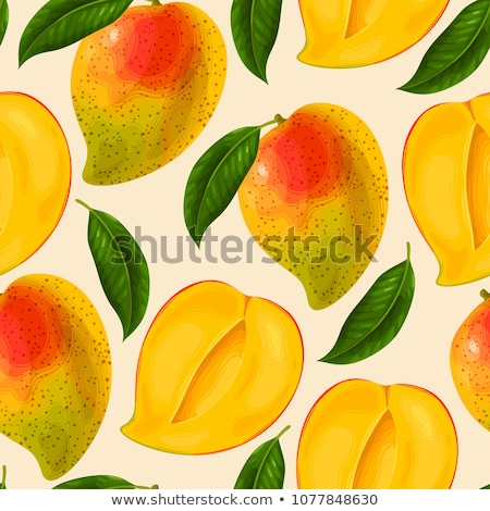 Végtelenített friss mangó illusztráció étel háttér Stock fotó © colematt