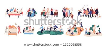 Família pessoas felizes fotos conjunto vetor Foto stock © robuart