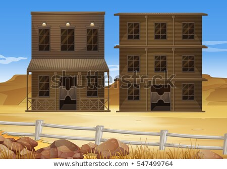 pustyni · dziedzinie · ilustracja · krajobraz · tle - zdjęcia stock © colematt