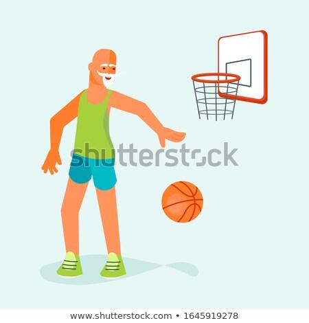 Desenho animado senior saltando ilustração Foto stock © cthoman