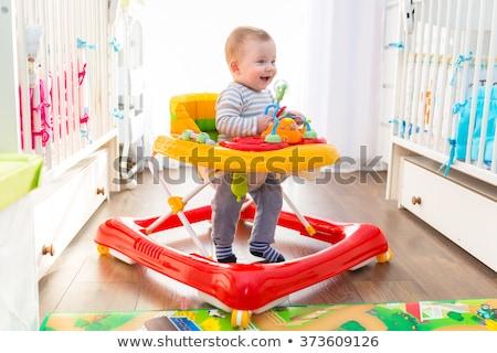 Baby icon dun lijn vector web Stockfoto © smoki