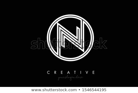 n black logo letter icon symbol Stock photo © blaskorizov