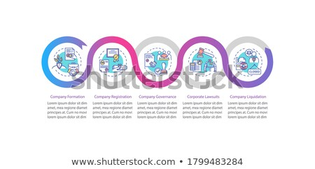 Business starten Web linear Symbol Vorlage Stock foto © robuart