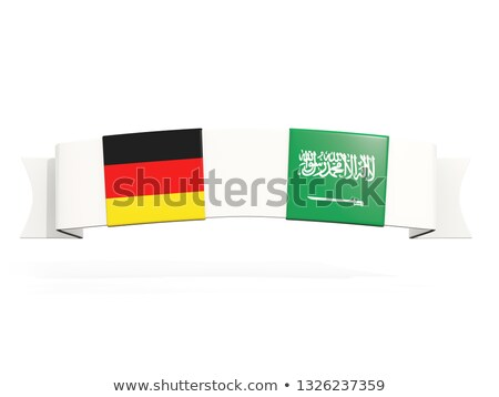 Banner with two square flags of Germany and saudi arabia Stock photo © MikhailMishchenko