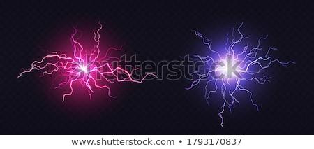 Palla di fuoco plasma vettore fulmini effetto magia Foto d'archivio © pikepicture