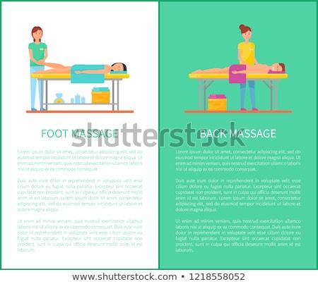 ногу массаж таблице Cartoon плакат вектора Сток-фото © robuart