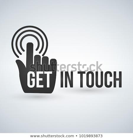 Stockfoto: Touch · typografie · hand · business · internet · mail