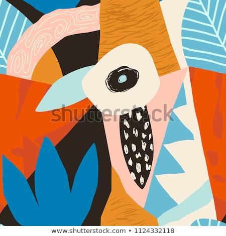 Aloe vera flower seamless pattern Stock photo © colematt