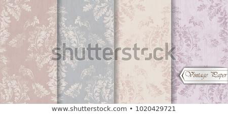Vintage barroco patrón establecer vector floral Foto stock © frimufilms