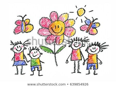 детский сад набор девушки различный вектора Сток-фото © toyotoyo