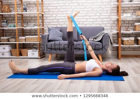 Donna yoga cintura esercizio Foto d'archivio © AndreyPopov