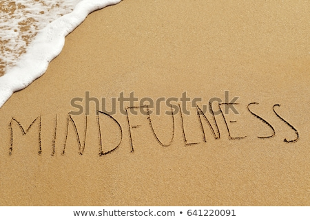 Relax Word Written On The Sand At Beach Stock photo © AndreyPopov