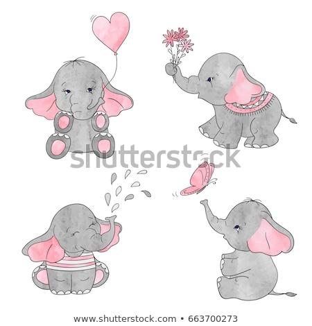 vector · elefantii · Africa · mamă · elefant · copil - imagine de stoc © izakowski