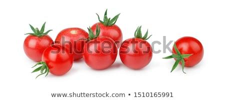 kicsi · koktélparadicsom · növekvő · ág · zöld · paradicsom - stock fotó © romvo
