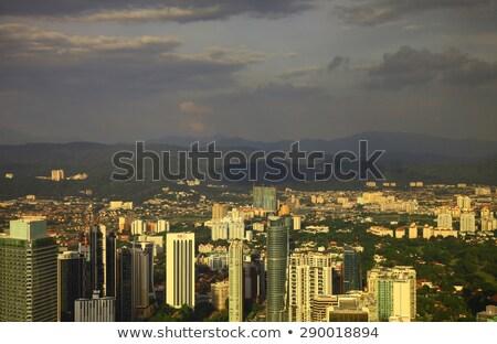 Foto stock: Kuala · Lumpur · cityscape · panorâmico · ver · noite