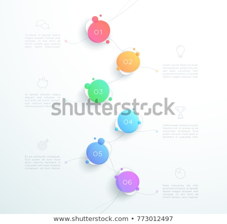 vector six steps template with bubbles and numbers stock photo © orson