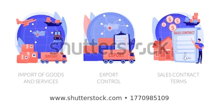 Import of goods and services concept vector illustration Stock photo © RAStudio