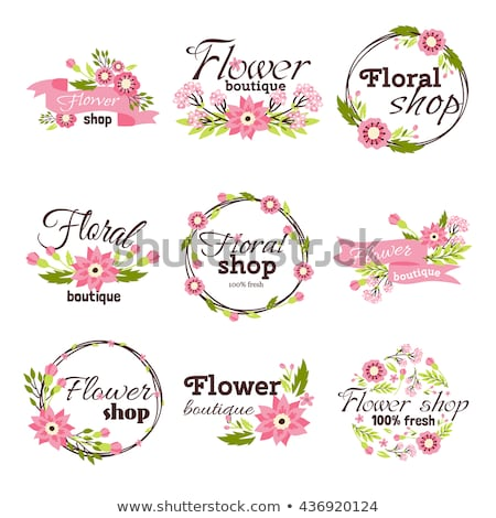 elegante · flor · logotipo · ícone · vetor · projeto - foto stock © netkov1
