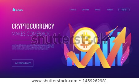 Cryptocurrency makes comeback concept landing page Stock photo © RAStudio