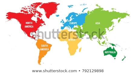 Toprak dünya haritası kıtalar oceans vektör sosyal ağ Stok fotoğraf © robuart