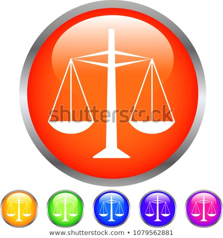 Colorful Shiny round button with steelyard mark Stock photo © Blue_daemon