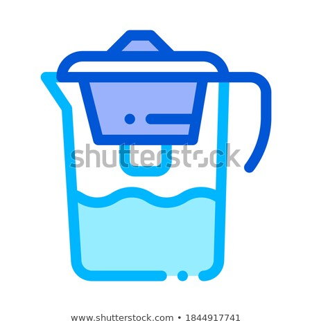 Healthy Water Home Filter Vector Thin Line Icon stock photo © pikepicture