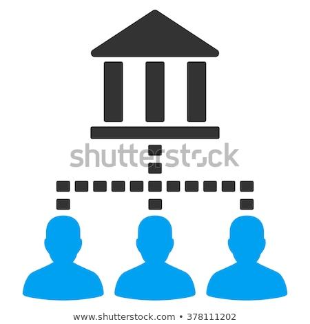 banque · bâtiment · blanche · affaires · signe · bleu - photo stock © smoki