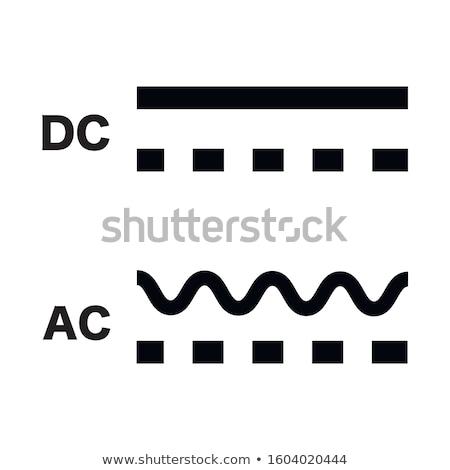 Kierować prąd symbol podpisania biały Zdjęcia stock © kyryloff
