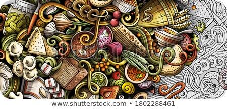 русский продовольствие рисованной иллюстрация Россия Сток-фото © balabolka