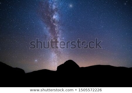 Milky Way and pre dawn glow on the horizon Stock photo © lovleah