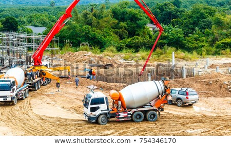 Excavator and Cement Mixer Industrial Machinery Stock photo © robuart