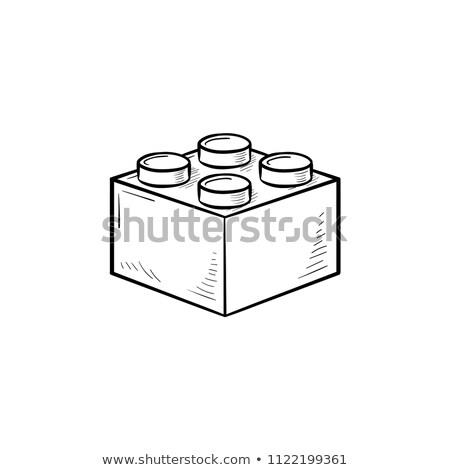 Oyuncak tuğla ikon inşaat eğitim Stok fotoğraf © bspsupanut