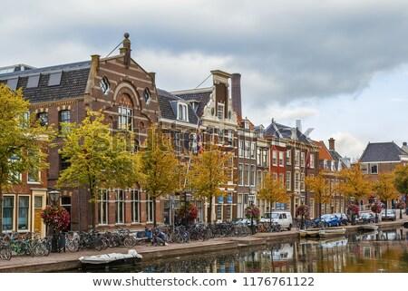 Weste Kanal Niederlande Ansicht Haus Stadt Stock foto © borisb17