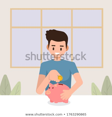 man holding coin dollar currency in male hands stock photo © robuart