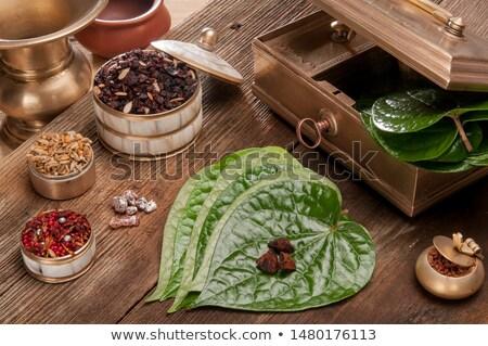 Odznaczony jadalny pozostawia popularny żywności Bangladesz Zdjęcia stock © bdspn