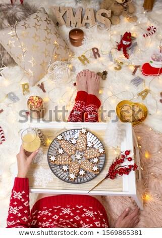 Christmas decoraties gezellig home drinken Stockfoto © lovleah