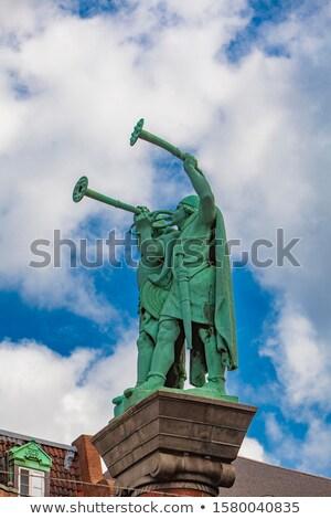 Lur Blowers monument in Copenhagen, Denmark Stock photo © boggy