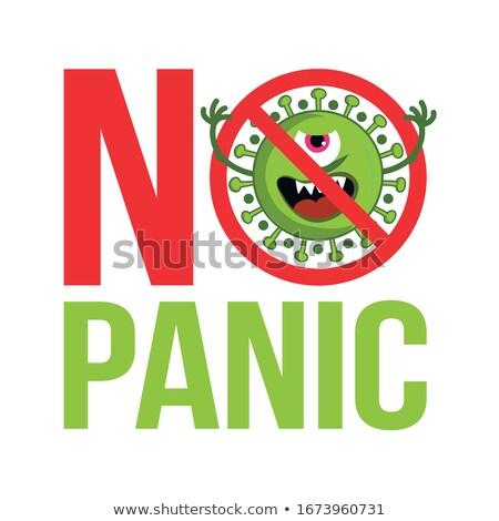 Stock photo: Stop Coronavirus 2019 Ncov - Hand Drawn Cute Virus Or Bacterium