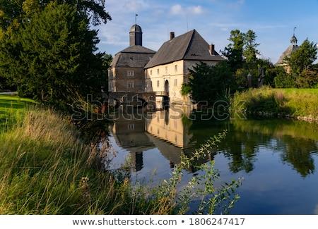 Kasteel Duitsland barok water wijk hemel Stockfoto © borisb17