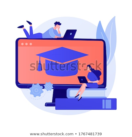 Color theory online studying vector concept metaphor. Stock photo © RAStudio