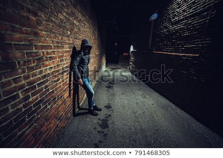 Gangster hiding in dark Stock photo © jossdiim