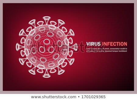Virus medical banner. Microbe, allergy bacteria, pathogen respiratory infection. Medical healthcare, Stock photo © Andrei_