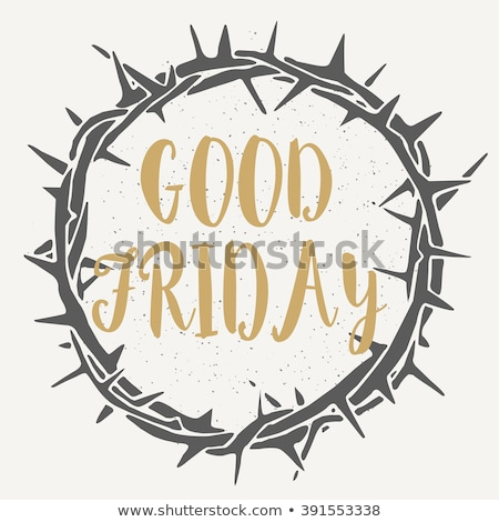 good friday background with crosses and thorn crown Stock photo © SArts